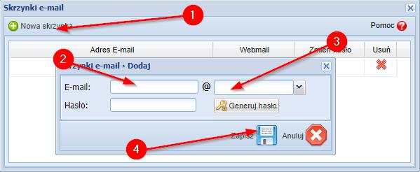 Zakładanie konta e-mail w Sky-Shop.pl