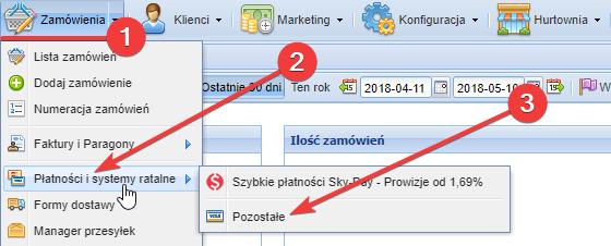 Przejście do menu konfiguracji płatności Przelewy24.pl