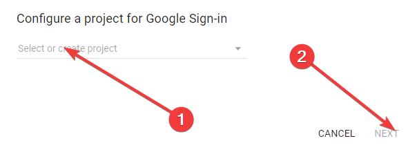 Tworzenie projektu do logowania przez Google+