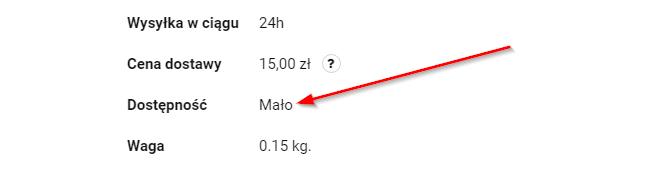 Opisowe stany dostępności w Sky-Shop.pl